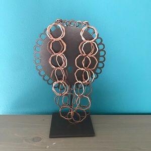 Lia Sophia Copper Links Necklace & Bracelet